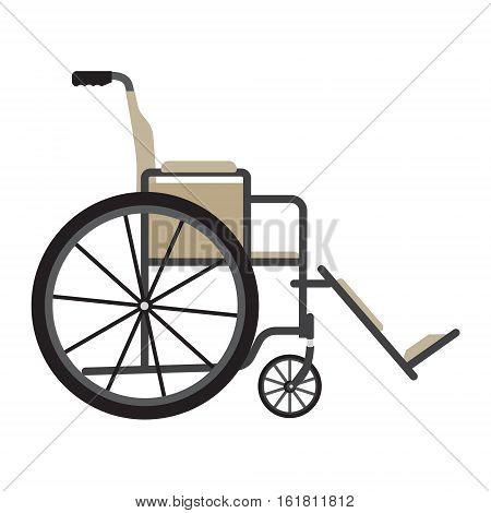 Medical Wheelchair Vector