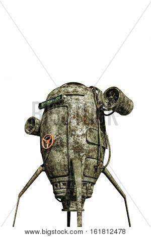 3d illustration of a space capsule isolated on white background