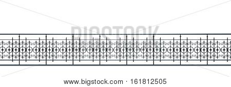 3d illustration of a victorian fence isolated on white background