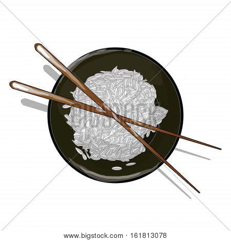 Illustration Of Rice Donburi/bowl/cup Isolated