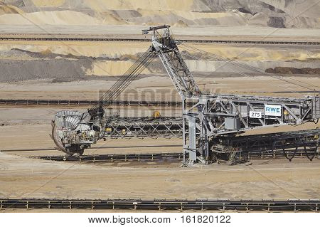 Brown Coal - Bucket Excavator At Opencast Mining Inden