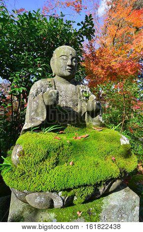 Buddha Sculpture At The Japanese Garden