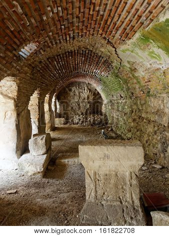 Roman thermae in Varna city on the Bulgarian Black Sea Coast.