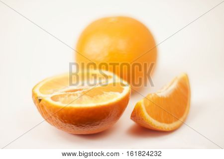 Crumple A Tangerine On A White Background