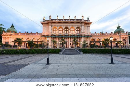 View on museum building at stadpark in vienna at sunset, austria