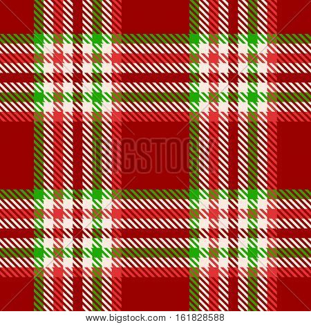 seamless pattern tartan in christmas theme, green and red