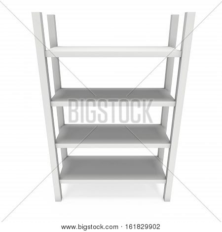 Product display rack. 3D render isolated on white. Platform or Stand Illustration. Template for Object Presentation.