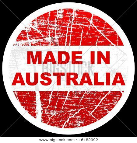 (raster image of vector) made in australia