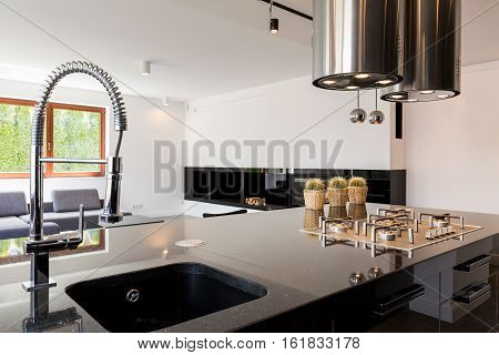 Kitchen Interior With Sink