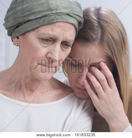 Sad Woman During Chemotherapy