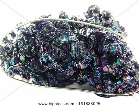chalcopyrite semigem geological multicolour bright crystal isolated poster