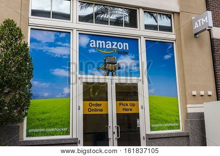 Las Vegas - Circa December 2016: Amazon Locker Location. Amazon Locker is a self-service parcel delivery service offered by Amazon.com VI