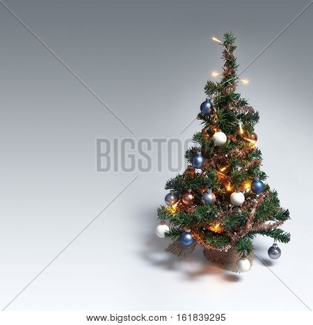 Christmas Tree On Gradient Background