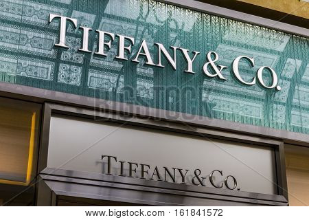 Las Vegas - Circa December 2016: Tiffany & Co. Retail Mall Location. Tiffany's is a Luxury Jewelry and Specialty Retailer Headquartered in New York City IV