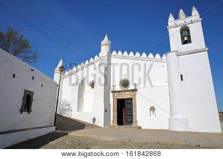 MERTOLA, PORTUGAL: The Matriz Church  (former Mosque of Mertola)