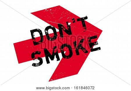 Don't smoke stamp. Grunge design with dust scratches. Effects can be easily removed for a clean, crisp look. Color is easily changed.