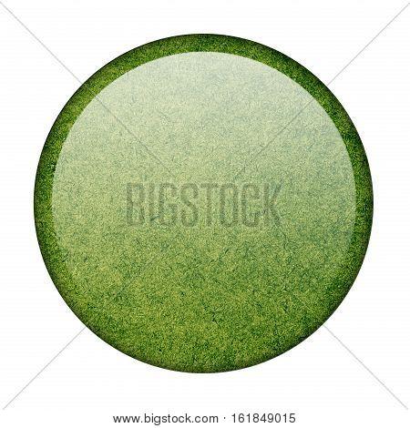 Libya button flag  isolate  on white background,3D illustration.