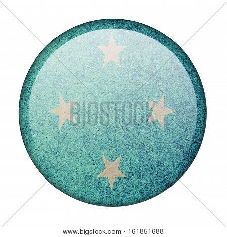 Micronesia button flag isolate on white background