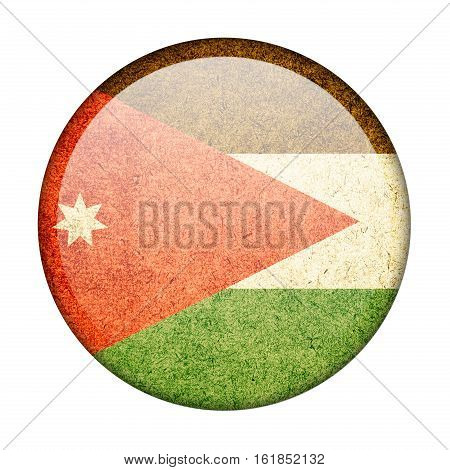 Jordan button flag isolate on white background