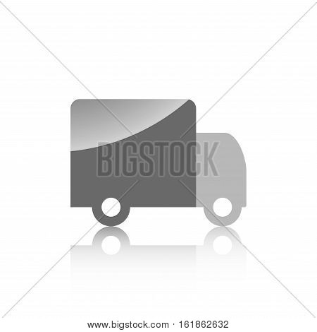 Icon For Construction Site Truck On A White Background