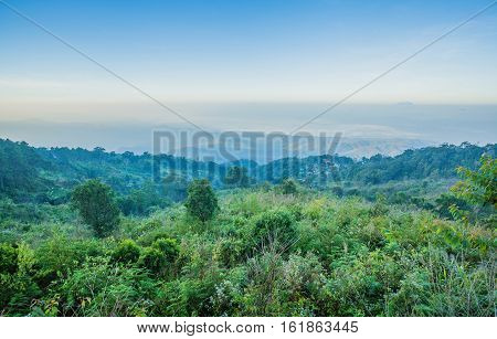 Beautiful Monlan Mountain a hilltop at an altitude of about 1696 meters generally have an abundance of. Although some areas are used in agriculture for some time at Sri Lanna National Park Chiangmai poster