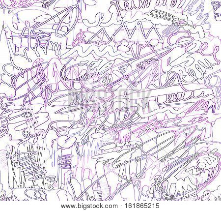 Abstract background with color scribble and lines pattern