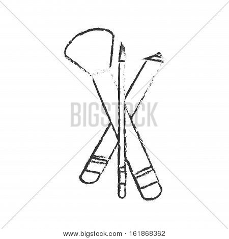 brushes makeup equipment icon over white background. vector illustration
