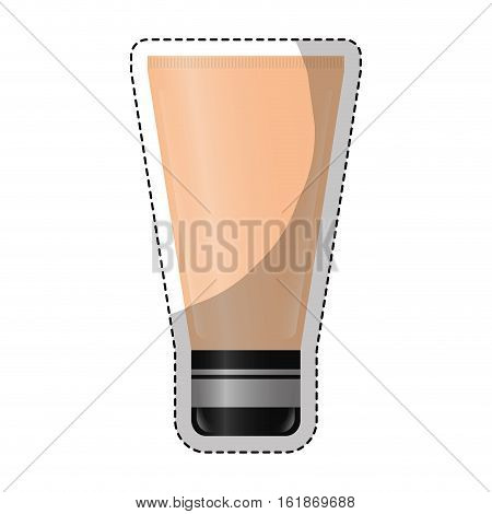 sticker of bb cream icon over white background. colorful design. vector illustration