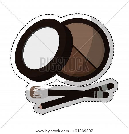 eyeshadow makeup equipment icon over white background. colorful design. vector ilustration