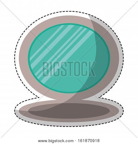 mirror icon over white background. colorful design. vector illustration
