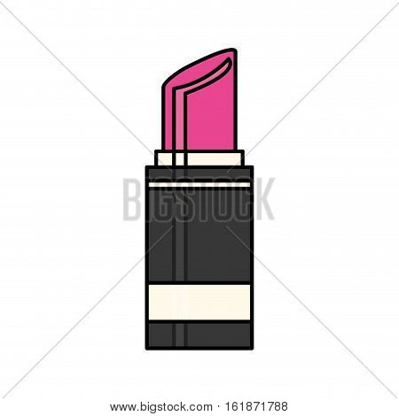 lipstick icon over whte background. makeup and cosmetic concept. colorful design. vector illustration