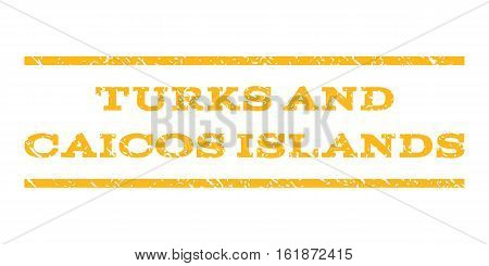 Turks and Caicos Islands watermark stamp. Text tag between horizontal parallel lines with grunge design style. Rubber seal stamp with unclean texture.