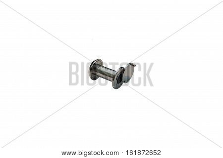Modern and optical door viewer isolated on white background.
