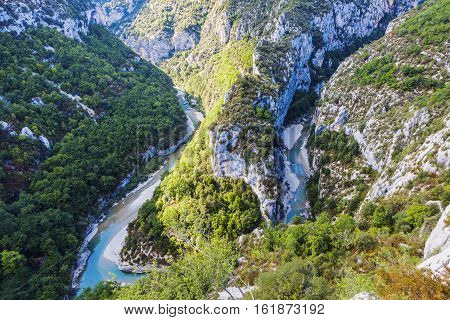 Verdon Gorge in France. Alpes de Haute Provence France.