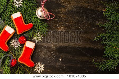 Christmas Concept  With Gingerbread