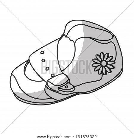 baby shoe icon over white background. vector illustraiton