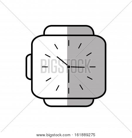 classic analog watch wearable technology shadow vector illustration eps 10
