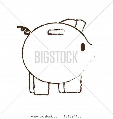 piggy save money bank sketch vector illustration eps 10