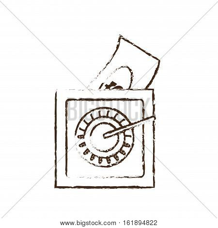 save box money cash bills sketch vector illustration eps 10