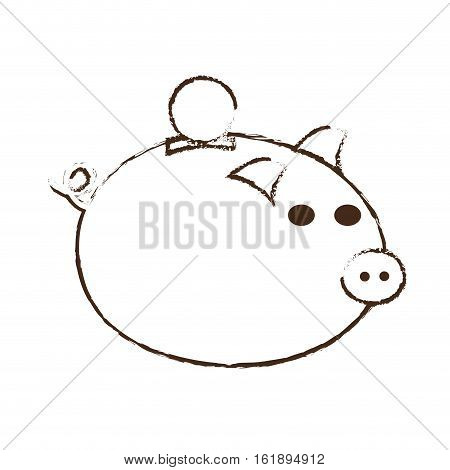 save money piggy coins bank sketch vector illustration eps 10