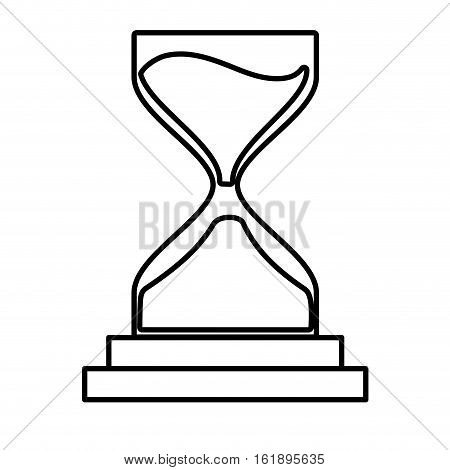 clock glass sand business clock money line vector illustration eps 10