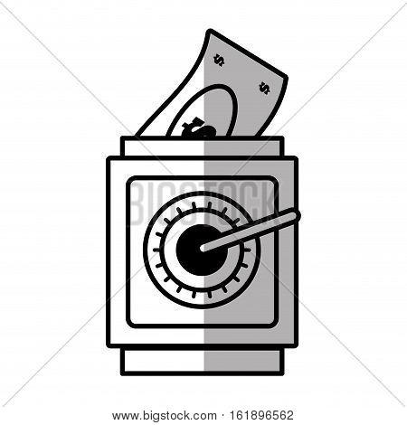 save box money cash bills shadow vector illustration eps 10