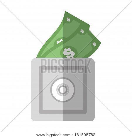 save box money cash bills flat icon vector illustration eps 10
