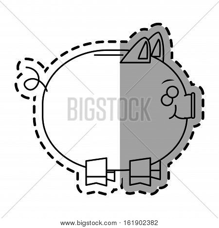 Piggy icon. Money financial item commerce market and buy theme. Isolated design. Vector illustration