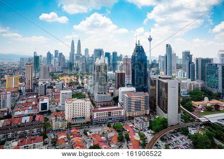 Kuala Lumpur skyline, Malaysia cityscape with nice sky