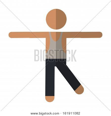 sportman artistic gymnastics vector illustration eps 10