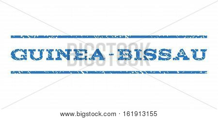 Guinea-Bissau watermark stamp. Text caption between horizontal parallel lines with grunge design style. Rubber seal stamp with unclean texture.