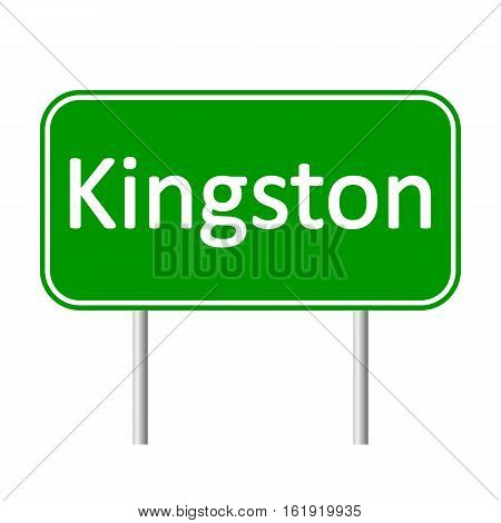 Kingston road sign isolated on white background.