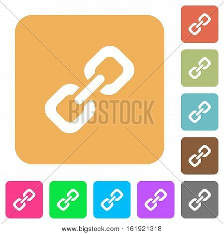 Link icons on rounded square vivid color backgrounds.