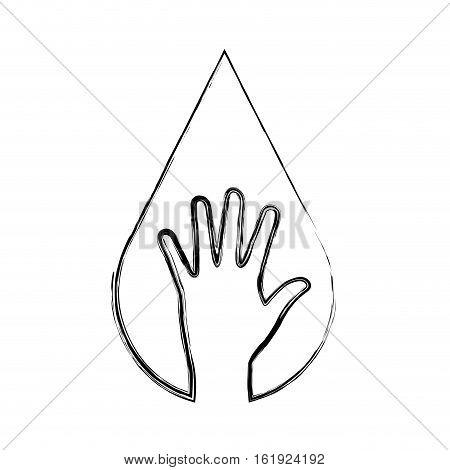 hand human ecology symbol vector illustration design